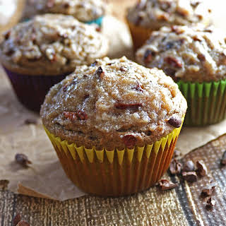 Date And Banana Muffins with Cacao Nibs (Refined Sugar-Free and Gluten-free).