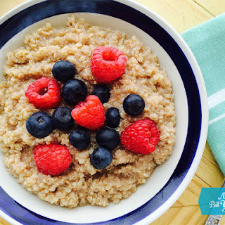 Quinoa Porridge with Berries, Cinnamon & Maple Syrup Recipe