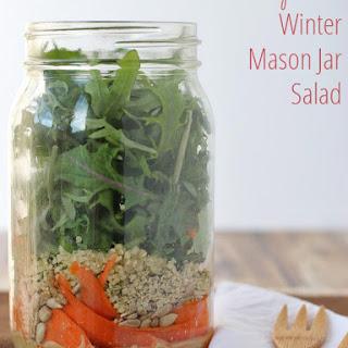 Protein-packed Winter Mason Jar Salad (gluten-free, dairy-free, vegan).