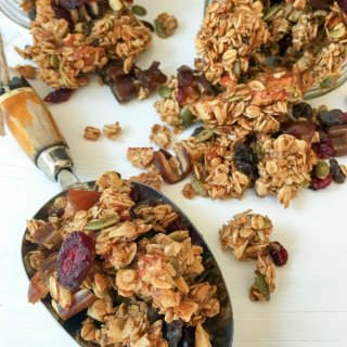 Homemade Autumn Harvest Fruit and Nut Granola.