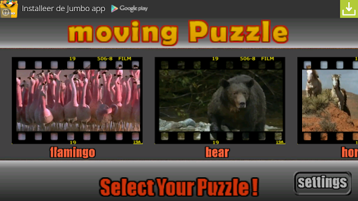 15 puzzle game animals FREE