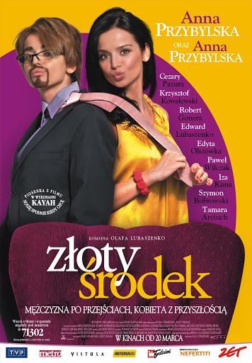 Polski plakat filmu 'Złoty Środek'