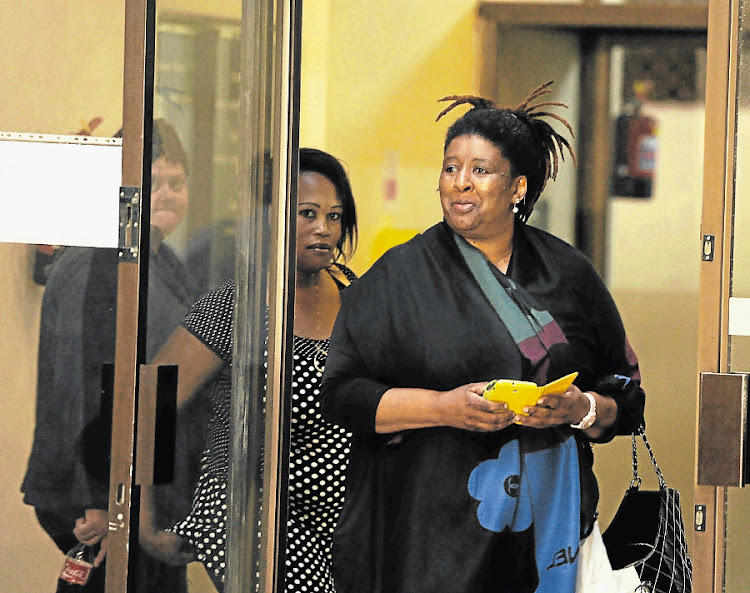 Portia 'Pankie' Sizani at the Port Elizabeth Commercial Crimes Court. Picture: MIKE HOLMES/THE HERALD