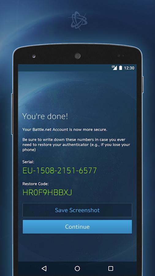 Battle.net Authenticator- screenshot