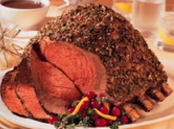 Prime Rib Roast Hoilday Style By Freda Recipe