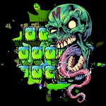Zombie Skull Graffiti Keyboard Theme