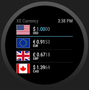 XE Currency: miniatura da captura de tela