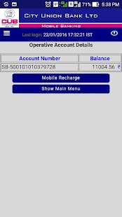 CUB MOBILE BANKING PLUS- screenshot thumbnail