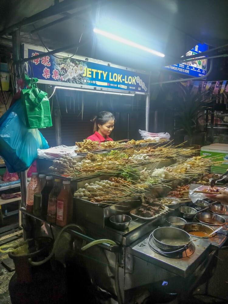 kebab+stall+penang+street+food+malaysian+food+asia