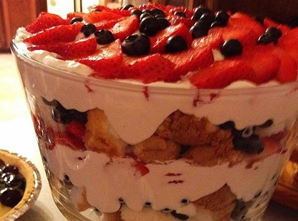 Strawberry/blueberry Angel Food Cake Trifle Recipe