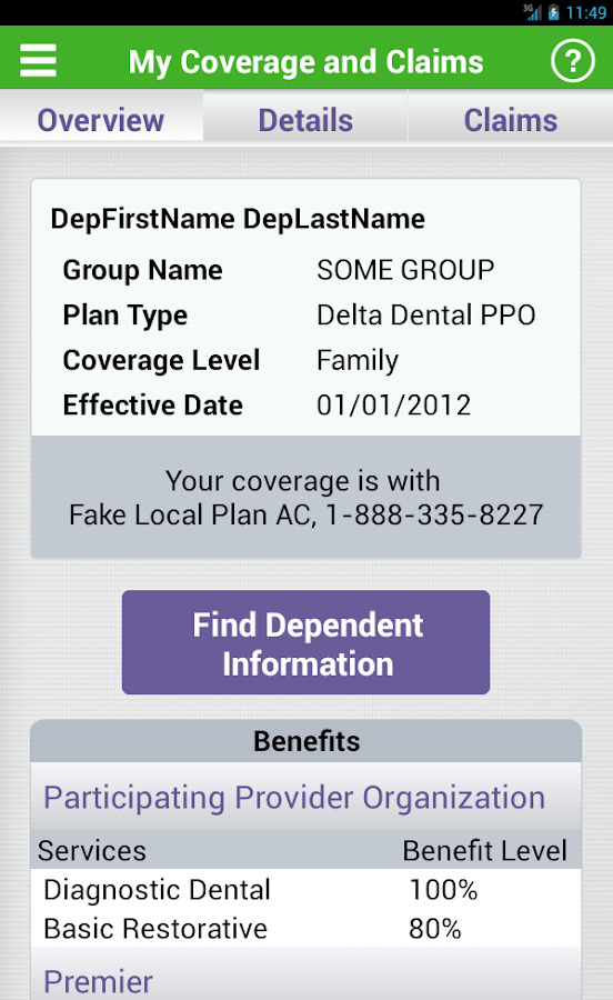 Delta Dental- screenshot