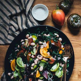 Tomato, Fresh Bean, And Kale Salad.
