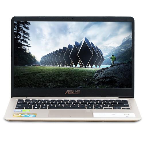 Máy tính xách tay/ Laptop Asus S410UN-EB210T (I5-8250U) (Vàng đồng)