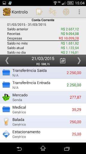 Kontrolo Finanças Pessoais
