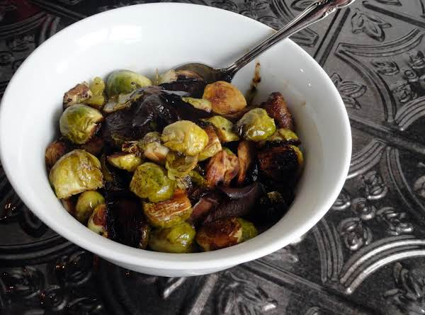 Sherry Balsamic Caramelized Brussels Sprouts Recipe | Just ...