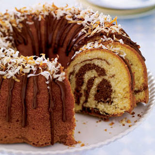 Coconut Marble Cake
