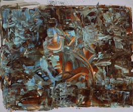 """Photo: """"Voile latine"""". Lasure et acrylique sur formica.37x31cm. Format horizontal."""