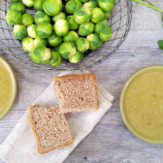 Curried Brussels Sprouts Soup [vegan].
