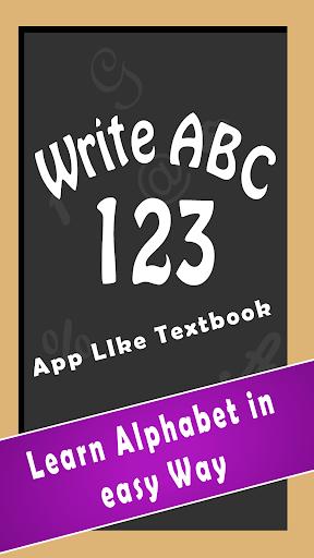 Write ABC 123