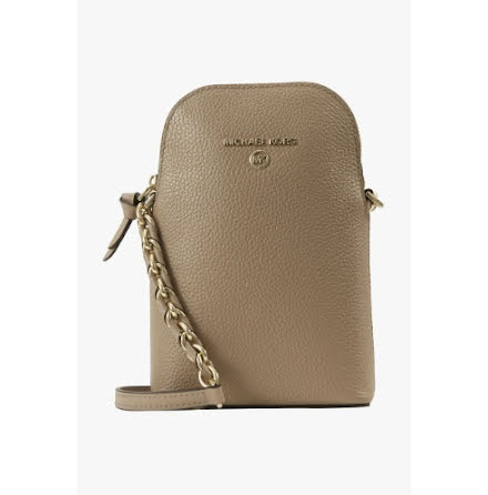 Jet Set Charm: Phone Crossbody, truffle
