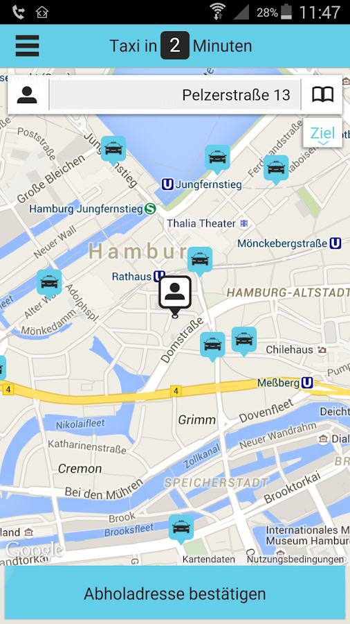taxi 211 211 hamburg android apps auf google play. Black Bedroom Furniture Sets. Home Design Ideas
