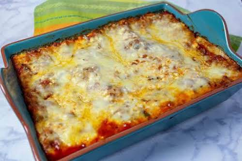 "Chorizagna - My Mexican Chorizo Lasagna""If you like guacamole dollop a little..."