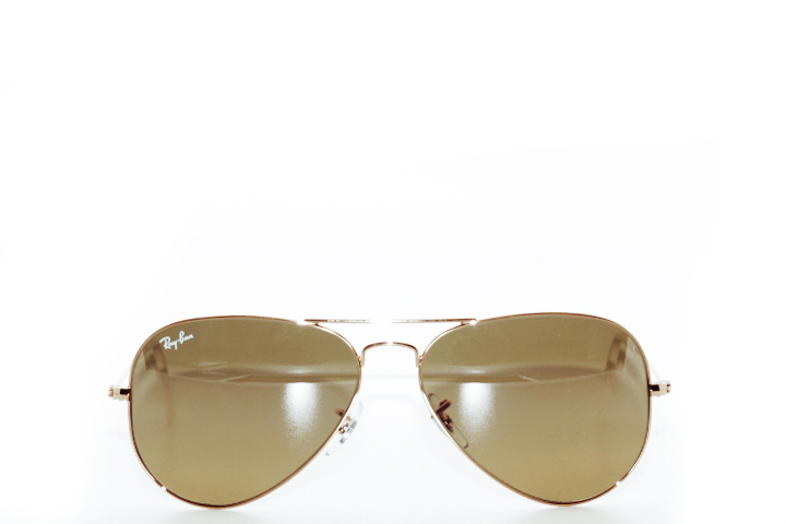 Ray Ban Aviator Black Gold Brown Silver