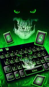 Green Horror Devil Keyboard -flaming skull 1.0 Unlocked MOD APK Android 2