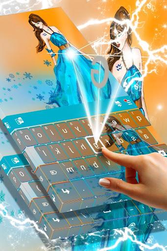 Aquarius Princess Keyboard Aplicaciones (apk) descarga gratuita para Android/PC/Windows screenshot