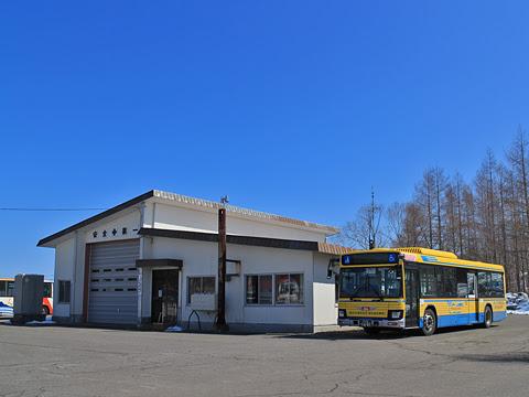 十勝バス 1601 創立90周年記念復刻塗装車 広尾営業所にて その4