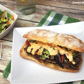 Vegan Portobello Cheesesteak Sandwiches