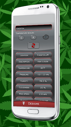 Weed Clock Weather Widget