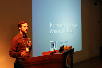 Photo: Nelson Mitchell of PG&E speaks on Home and Business Area Networking