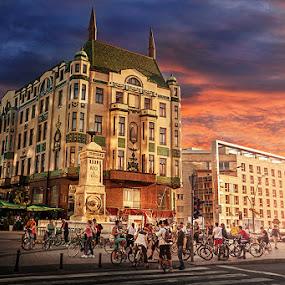 Hotel Moskva by Bojan Dzodan - Buildings & Architecture Public & Historical ( sky, dzodan, belgrade, serbia, moskva, hotel,  )
