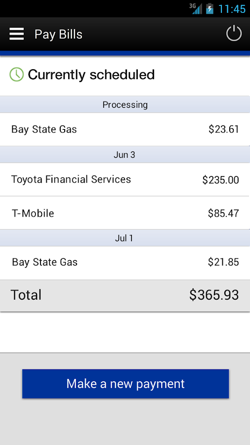 TotalBank Mobile Banking - screenshot