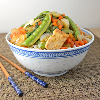 Snow Pea and Mizuna Stir Fry