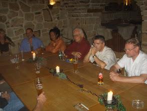 Photo: 2007 Ines Schulz, Uwe Schmidt & Frau, Klassenlehrer Marx, Wolf-Dieter Sommer & Wilfried Runne