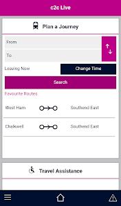 c2c Live (c2c Rail Ltd) screenshot 0