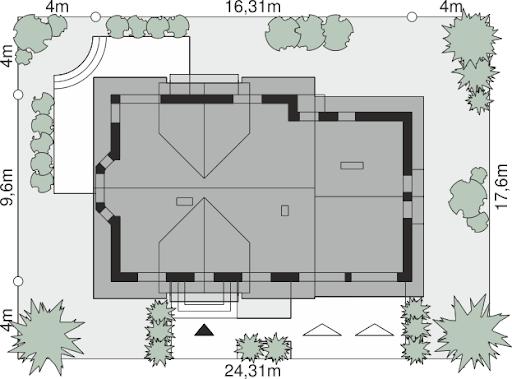 Dom przy Cyprysowej 15 DN - Sytuacja