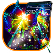 Colorful Neon Butterfly Theme