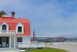 Photo: Restored residence, now Ocean Climate Institute, near Crissy Field