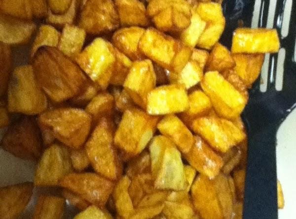 Add Cilantro, garlic and lemon to hot potatoes, Stirring to distribute. Season with salt...