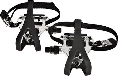 Wellgo LU-961 Road Pedals Silver with Clips & Straps alternate image 0