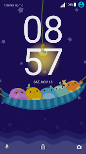 Cute Monster ND Xperia Theme - náhled