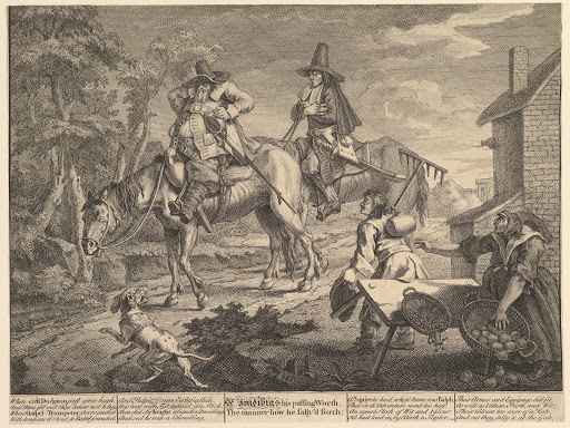 "Sr. Hudibras, His Passing Worth, The Manner How He Sally'd Forth"": Twelve Large Illustrations for Samuel Butler's Hudibras, Plate 2"