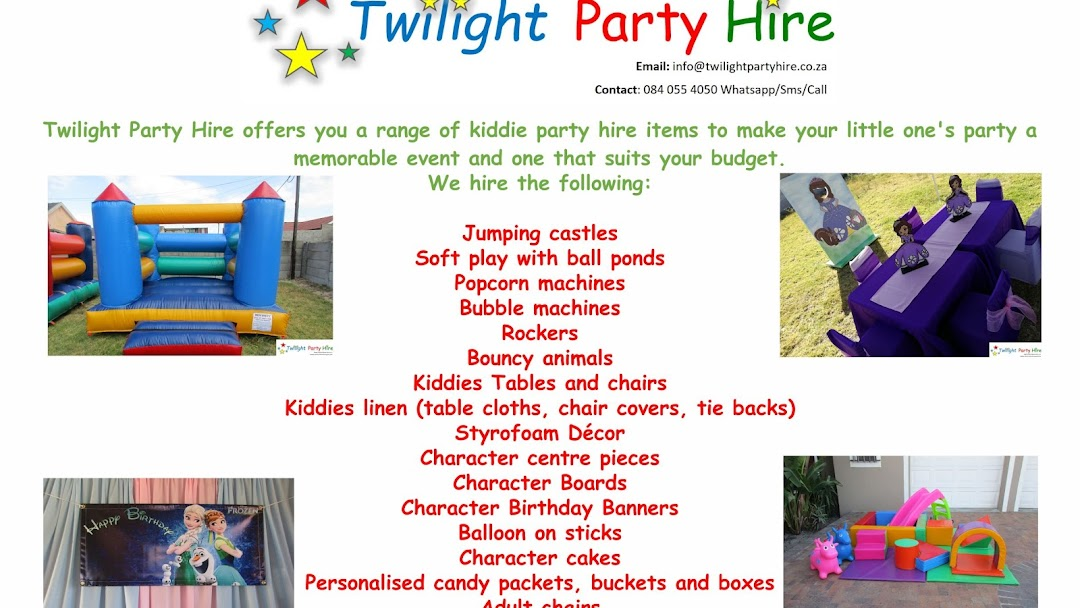 Twilight Party Hire Cape Town - Party Equipment Rental