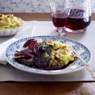 Calves' Liver with Shallots and Apple Mashed Potatoes