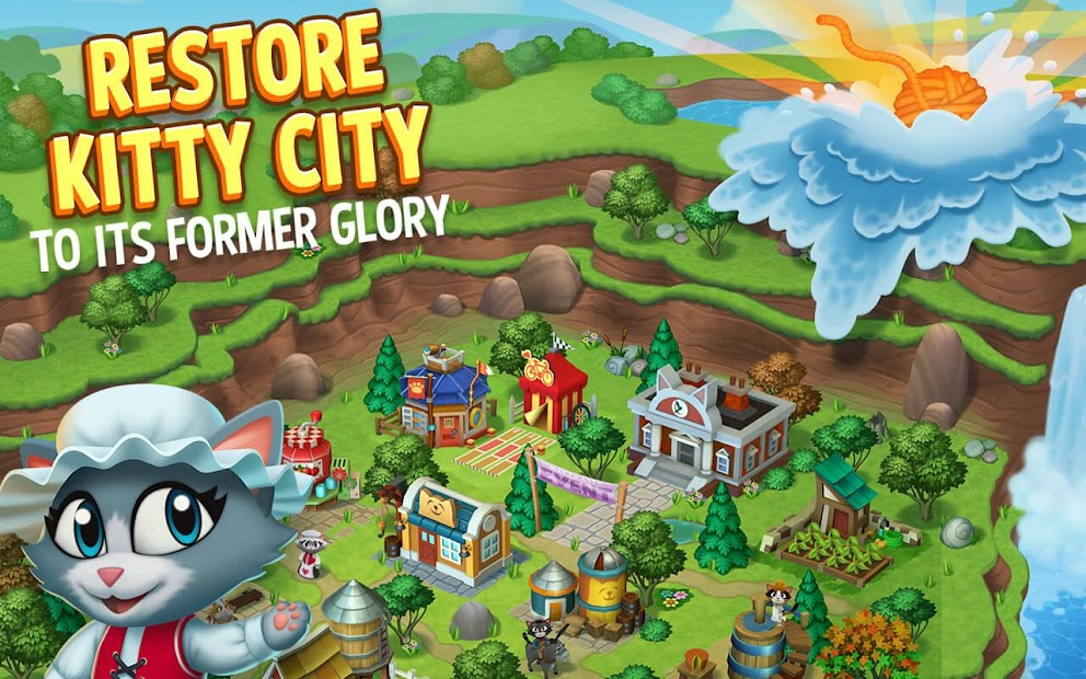 Kitty City: Kitty Cat Farm Simulation Game Android App Screenshot