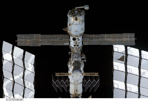 ISS during arrival of STS-127 Space Shuttle Endeavour