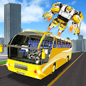 Passenger Bus Robot Simulator - Robot City Battle icon
